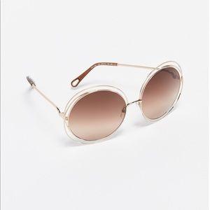 Chloe Carlina 58mm Round Sunglasses